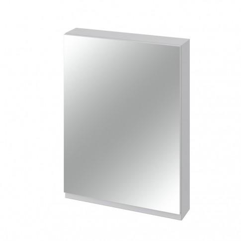 Dulap baie cu oglinda, 1 usa, Cersanit Moduo S929-017, gri, 59.5 x 80 x 14.1 cm