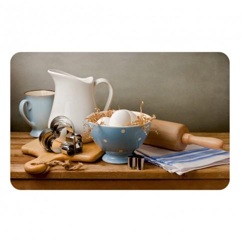 Suport bucatarie, pentru farfurii, Breakfast in the Village, din PVC, 25 x 40 cm