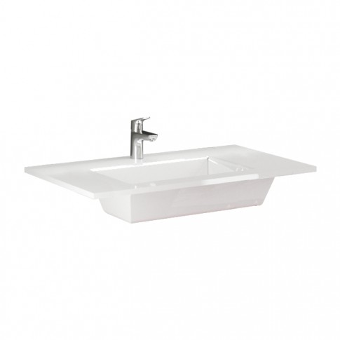 Lavoar Savini Due Cielo 2351, alb, dreptunghiular, 80 cm