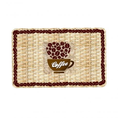 Suport bucatarie, pentru farfurii, Coffee Beans, din PVC, 25 x 40 cm