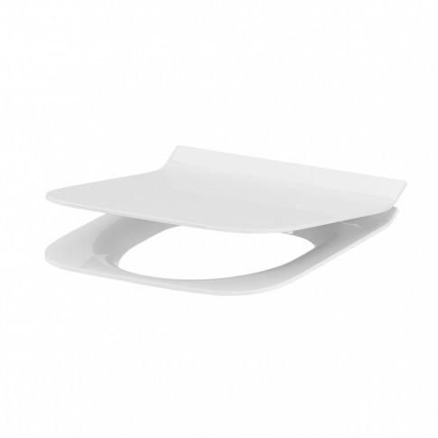 Capac WC din duroplast, Cersanit Crea K98-0178, alb, inchidere soft close, 353 x 426 mm