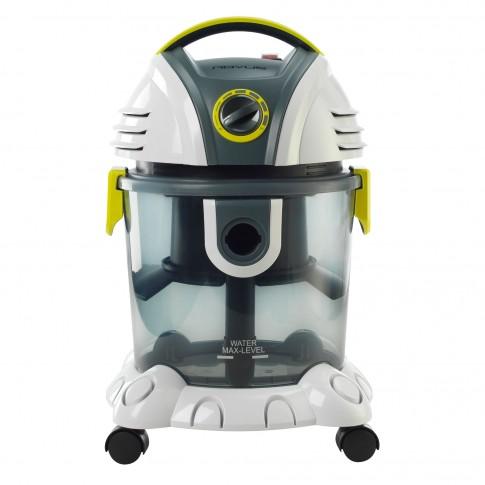 Aspirator Rovus Victor Vac, cu filtrare prin apa, fara sac, 15 l, 1200 W, filtru Hepa, aspirare uscata si umeda, functie de suflanta / pompa, alb + gri + verde