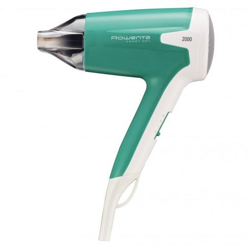 Uscator de par Rowenta Beauty Effiwatts CV1630F0, 1600 W, 2 viteze, 2 setari temperatura, functie aer rece, alb + verde