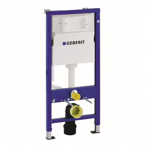 Pachet rezervor apa, incastrat, Geberit Duofix Delta, Rimfree, 50 x 112 cm, vas WC, clapeta de actionare Delta 50 si capac WC, incluse