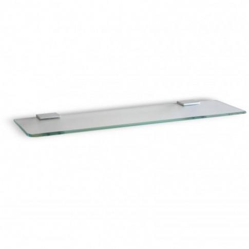 Etajera pentru baie din sticla, Ice, 45 x 12.7 x 1.4 cm