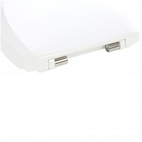 Capac WC din duroplast, Kadda Uniset D3, alb, inchidere soft close, universal, 370 x 435/443 mm