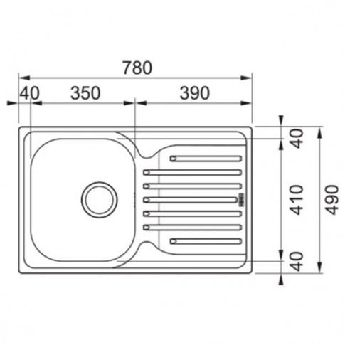 Chiuveta bucatarie inox dekor Franke PXL 611-78 cuva pe dreapta 78 x 49 cm + baterie Narew cromata