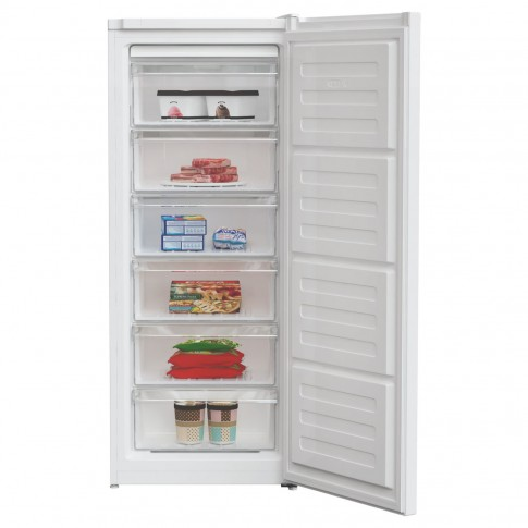Congelator Arctic AC54210M+, 168 litri, clasa A+, 6 sertare, inaltime 135.7 cm, functie Fast Freezing, compartiment Fast Freeze XL, alb