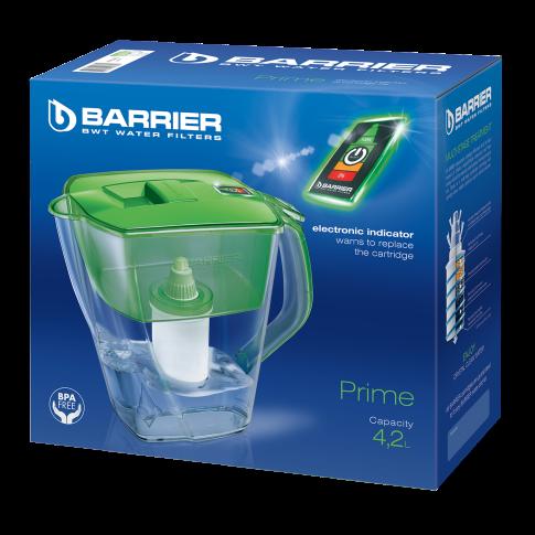 Cana filtrare apa potabila Barrier Prime, verde, 4.2 L, cartus standard inclus