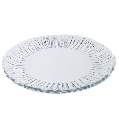Platou Aurora 10499, forma rotunda, sticla, transparent