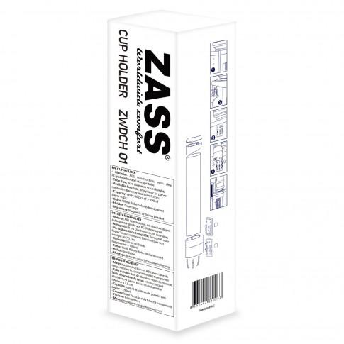 Suport de pahare din plastic sau carton pentru dozator de apa, Zass ZWDCH 01, ABS + policarbonat, 40 x 7.5 x 8 cm, alb + transparent