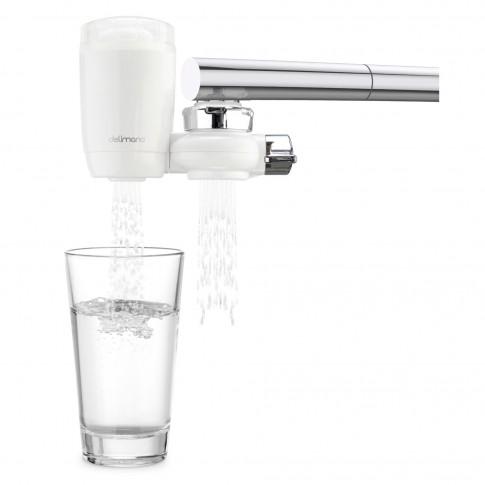 Filtru pentru apa potabila, montare pe robinet, Delimano, viteza filtrare 2 l/min, filtrare in 5 etape, cantitate filtrare 1500 l