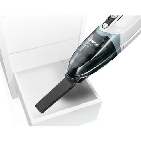 Aspirator de mana Bosch BHN14N, fara sac, aspirare uscata, filtru lavabil, sistem Cyclonic Airflow, duza pentru colturi, acumulator NiMH 14.4 V
