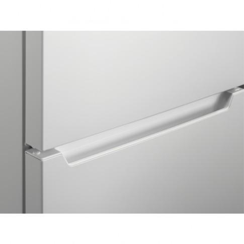 Frigider Zanussi ZTAN28FW0, cu 2 usi si 3 rafturi, 244 litri, clasa F, alb, inaltime 161 cm, control electronic al temperaturii, usi reversibile