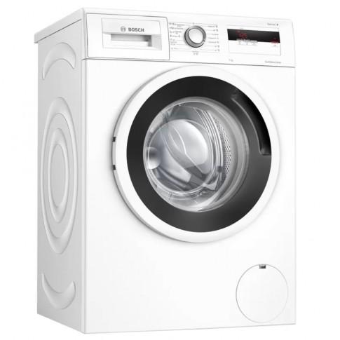 Masina de spalat rufe Bosch WAN24062BY, 7 kg, 1200 rpm, clasa D, adancime 55 cm, tehnologie EcoSilence Drive, SpeedPerfect, ActiveWater, functie Reincarcare, afisaj LED, alba