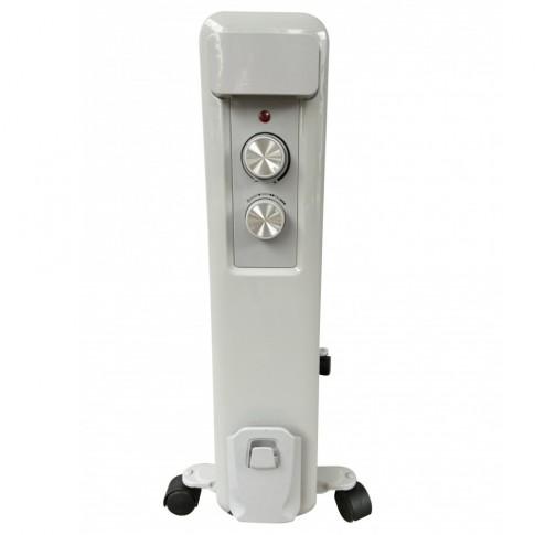 Radiator electric Meister Hausgerate HRH48, 3 trepte, 2500 W, 588 x 135 x 640 mm, 13 elementi, termostat reglabil, protectie impotriva supraincalzirii si rasturnarii, indicator luminos pentru putere