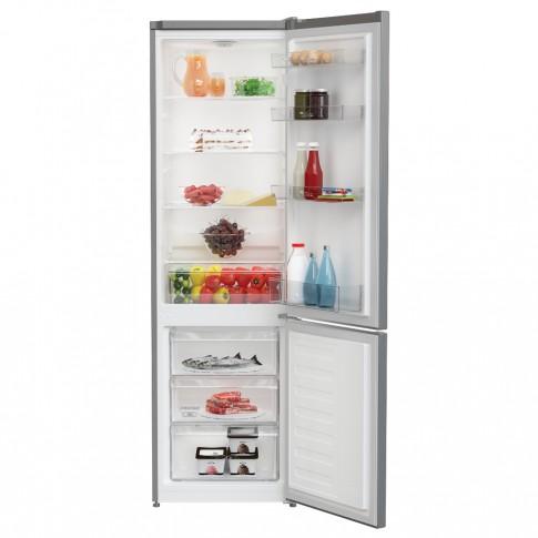 Combina frigorifica Arctic AK54305M30MT, 291 litri, clasa F, inaltime 181.3 cm, termostat reglabil, Eco LED, compartiment Garden Fresh, usi reversibile, rafturi Safety Glass, argintie