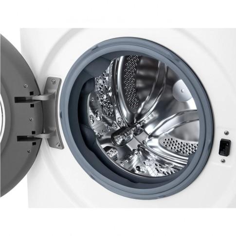 Masina de spalat rufe LG F2WN2S7S4E, 7 kg, 1200 rpm, clasa E, adancime 45.5 cm, motor Inverter Direct Drive, tehnologie Steam, AI Direct Drive, curatare cuva, Smart Diagnosis, Adaugare articole, alba