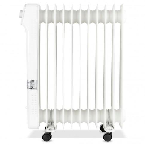 Radiator electric cu ulei Zass ZR 11 N, 3 trepte, 2500 W, 540 x 140 x 650 mm, 11 elementi, termostat reglabil, protectie la supraincalzire, indicator luminos de functionare, maner si rotite pentru o deplasare facila, alb