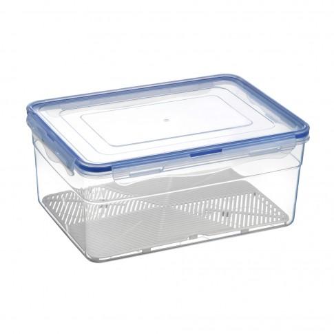 Cutie depozitare pentru alimente, cu capac etans, Inaplast, polipropilena, transparenta, 6 L