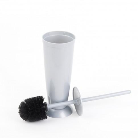 Perie WC Romtatay 43170, polipropilena, gri metalizat, 42 x 9.5 cm