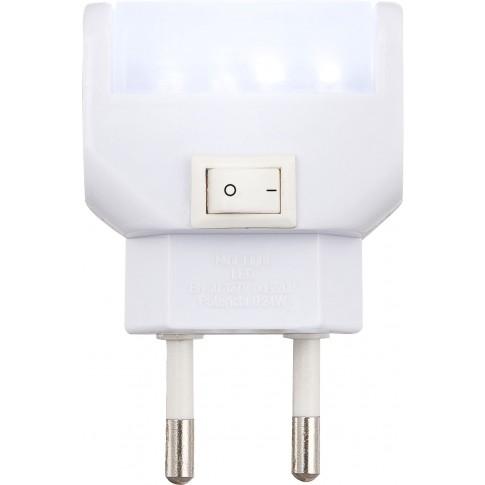 Lampa de veghe 4 LED-uri Globo Chaser 31908, 0.24W, comutator on / off, alimentare priza