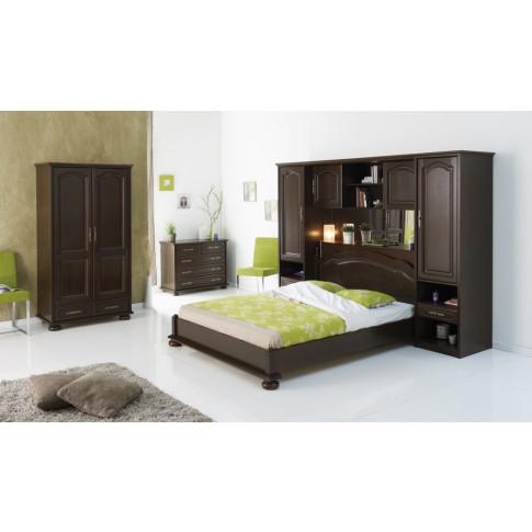 Comoda dormitor Berry 3613CO4T, cu 4 sertare, nuc, 103 x 82 x 47 cm, 1C
