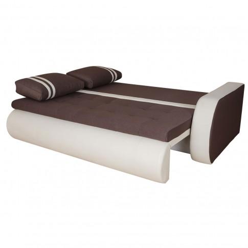 Canapea extensibila + fotolii Top, bej + maro, 7C