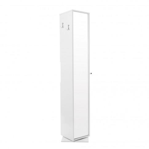 Dulap baie pe sol, 2 usi, rotativ, Martplast Reflex, alb, deschidere pe dreapta, 190 x 36 cm