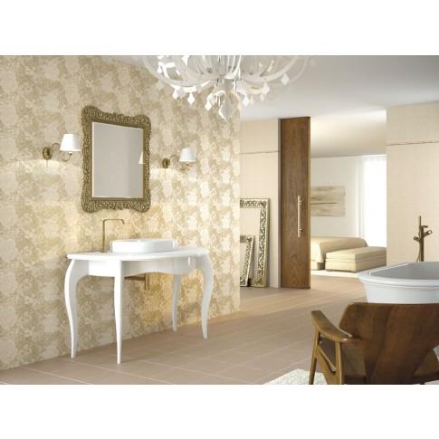 Decor faianta baie / bucatarie Florencia mat crem 25 x 60 cm