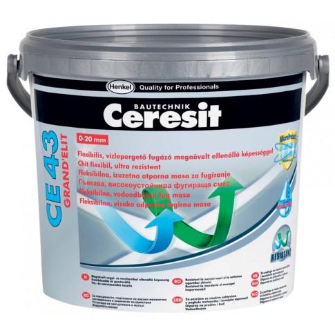 Chit de rosturi gresie si faianta Ceresit CE 43, gri szara 07, interior / exterior, 5kg