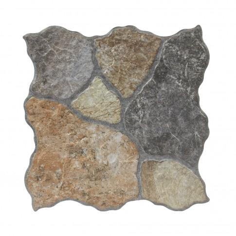 Gresie exterior / interior portelanata antiderapanta Tundra rustico, mata, imitatie piatra, 31 x 31 cm