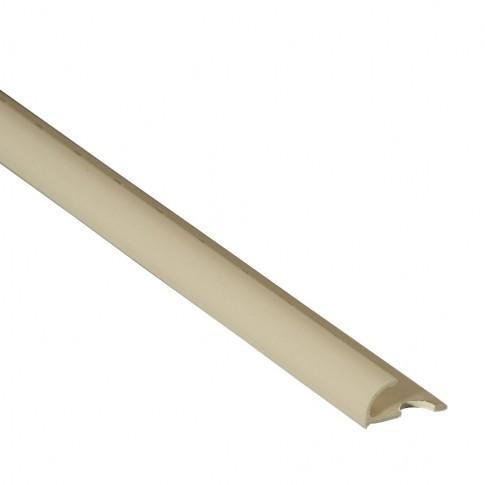 Profil PVC margine gresie si faianta uni, Ivory 00085ma, bej, 8.5 mm, 2.6 m