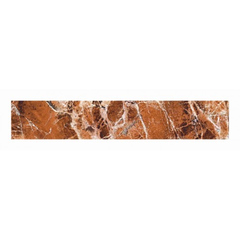Plinta gresie ceramica Eclipse R175, lucioasa, maro, 8 x 45 cm