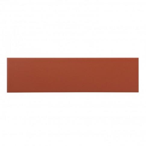 Placa soclu exterior / interior klinker Simple red, mata, 6.5 x 24.5 cm