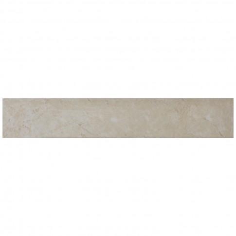 Plinta gresie ceramica Nogal, lucioasa, bej, 8 x 45 cm