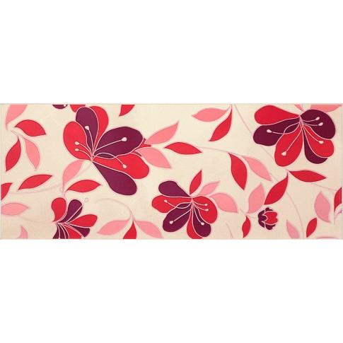 Decor faianta baie / bucatarie Atenas Amarante lucios bordo 20 x 50 cm