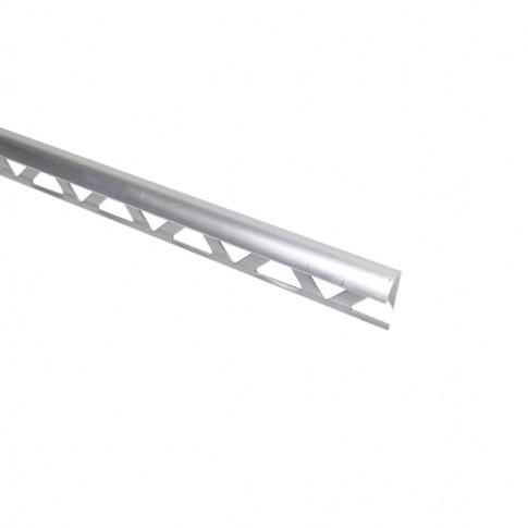 Profil aluminiu de colt exterior pentru gresie si faianta, rotund, S53, argintiu, 10 x 2500 mm
