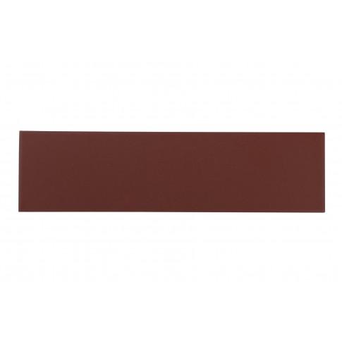 Placa soclu exterior klinker Burgund Plus 9553, mata, maro, 6.5 x 24.5 cm