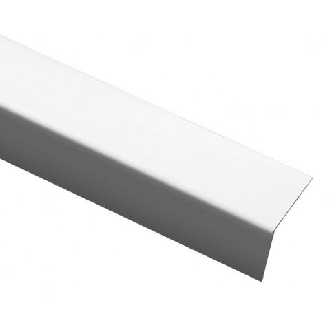 Profil de colt L din PVC, alb, 40 x 40 mm, 2.5 m