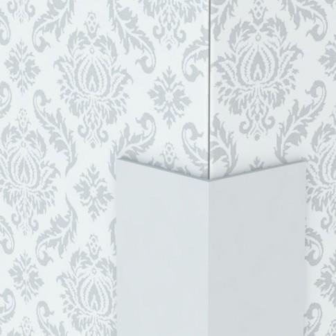 Profil de colt L din PVC, alb, 25 x 25 mm, 2.75 m