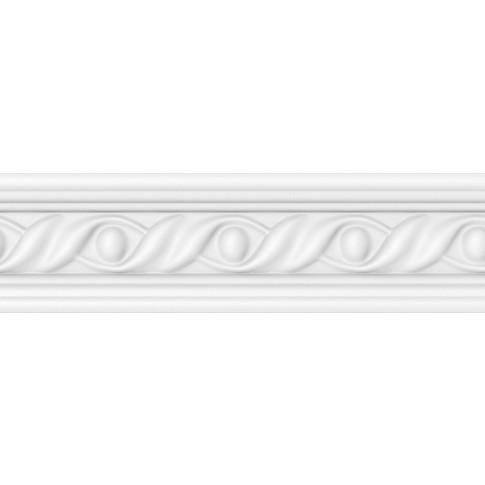 Bagheta decorativa polistiren VTM M11 08 NW, clasic, alba, 200 x 4.5 x 0.5 cm