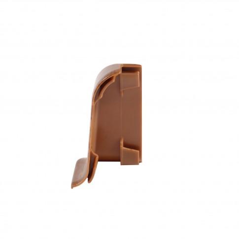 Colt exterior pentru plinta Vilo Flex 528, nuc inchis,  55 x 22 mm, 2 buc/set