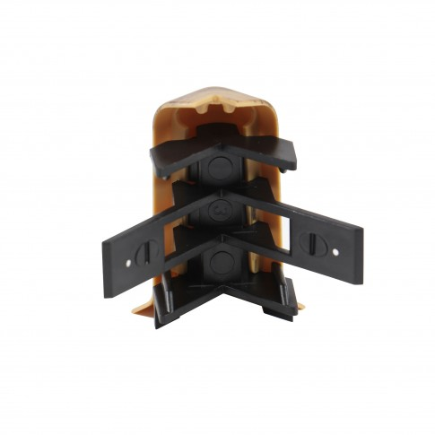 Colt exterior pentru plinta SET 10456-0040 nuc 52 x 22 mm 2 buc/set