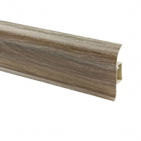 Plinta parchet PVC Smart Flex 553 canal stejar argintiu 2500 x 55 x 22 mm