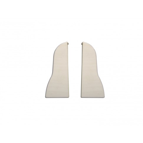Terminatie pentru plinta, stanga / dreapta, VKP 53.01, PVC, alb, 45 x 35 mm, 4 buc / set