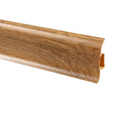Plinta parchet PVC Vilo Flex 537, canal cablu, stejar boieresc, 2500 x 55 x 22 mm
