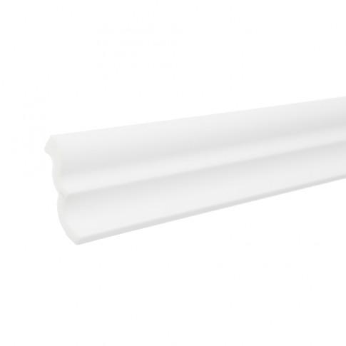 Bagheta decorativa polistiren C04-50, modern, alba, 200 x 4.6 x 4.6 cm