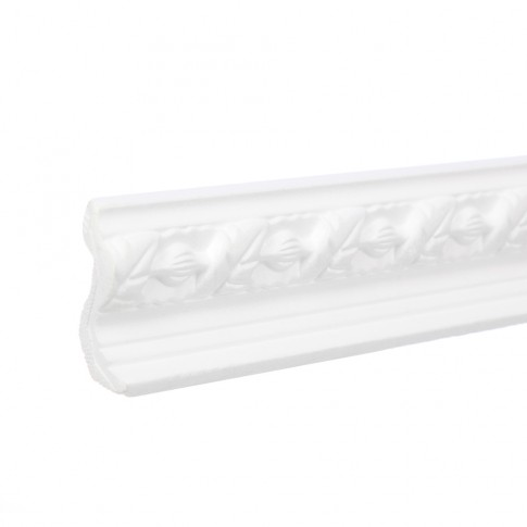 Bagheta decorativa polistiren C112-80, clasic, alba, 200 x 6.5 x 4.5 cm
