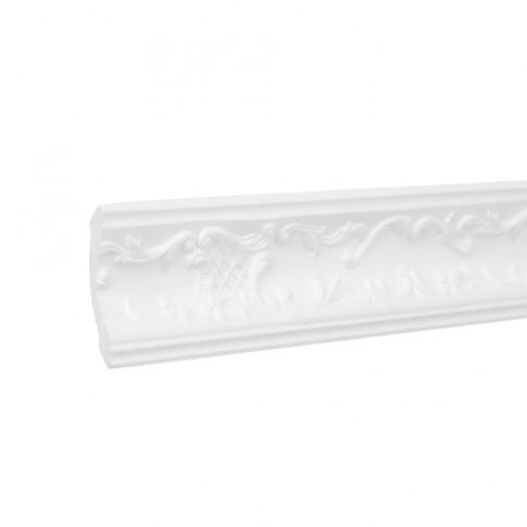 Bagheta decorativa polistiren C113-80, clasic, alba, 200 x 5.5 x 5 cm